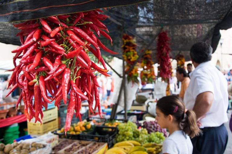 Markets with varied fresh produce are one benefit of buying an inland property for sale in Andalucia